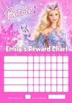 Personalised Barbie Reward Chart (adding photo option available)